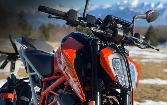 KTM 390 Duke motorcycle rental A2 License